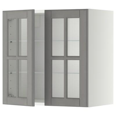 METOD เมท็อด ตู้แขวน2บานกระจก/ชั้นวางของ