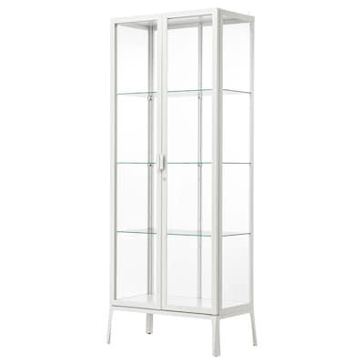 MILSBO มีลสบู ตู้บานกระจก, ขาว, 73x175 ซม.