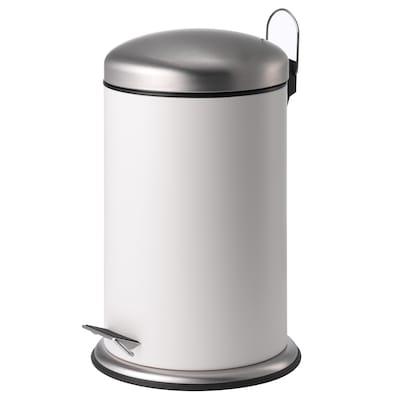 MJÖSA มเยอซา ถังขยะเหยียบ, ขาว, 12 ลิตร