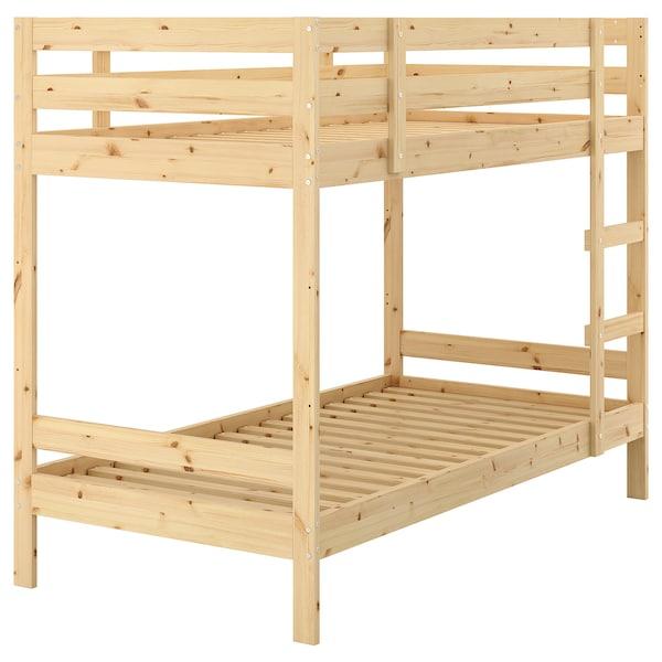 มีดอล โครงเตียงสองชั้น ไม้สน 100 กก. 157 ซม. 97 ซม. 206 ซม. 200 ซม. 90 ซม. 19 ซม.