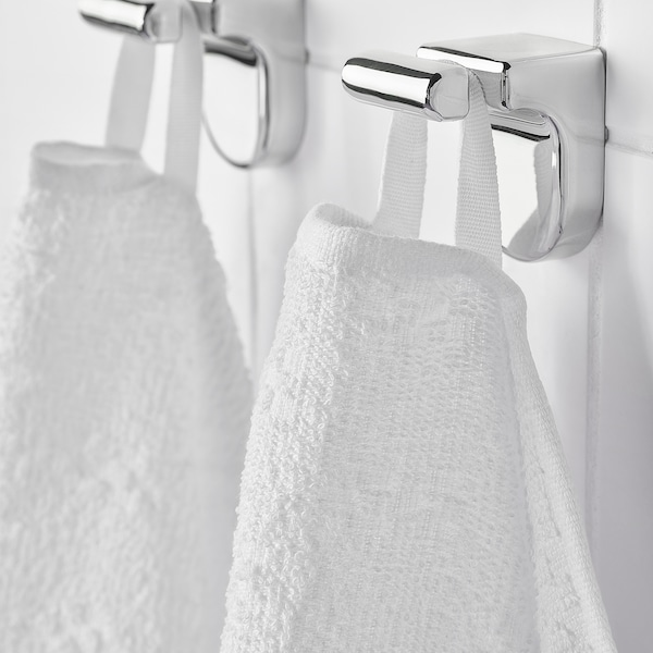 NÄRSEN แนร์ชเชน ผ้าเช็ดตัว, ขาว, 55x120 ซม.