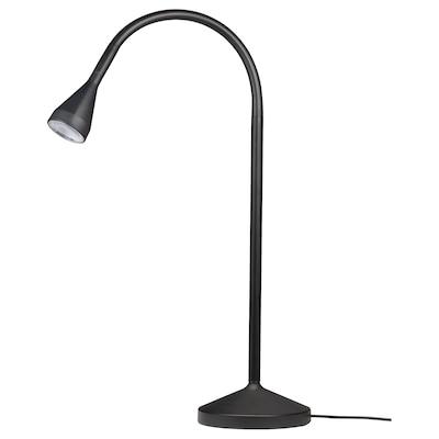 NÄVLINGE แนฟลิงเง โคมไฟ LED โต๊ะทำงาน, ดำ