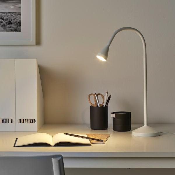 NÄVLINGE แนฟลิงเง โคมไฟ LED โต๊ะทำงาน, ขาว