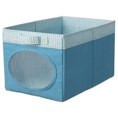 NÖJSAM นึยซัม กล่องผ้า, น้ำเงิน, 25x37x22 ซม.