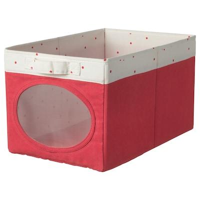 NÖJSAM นึยซัม กล่องผ้า, แดงอ่อน, 25x37x22 ซม.