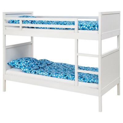 NORDDAL นูร์ดดอล โครงเตียงสองชั้น, ขาว, 90x200 ซม.