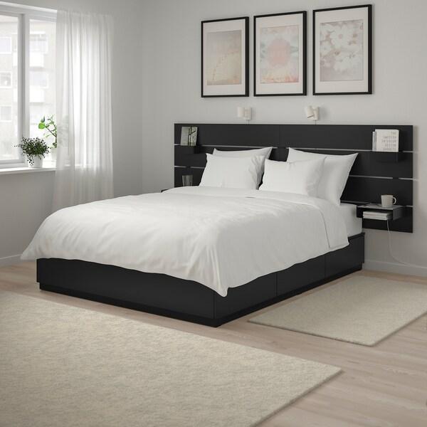 นูร์ดลี โครงเตียงพร้อมที่เก็บของและหัวเตียง