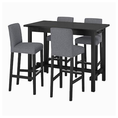 NORDVIKEN นูร์ดวีคเกน / BERGMUND แบรีมุนด์ โต๊ะบาร์+เก้าอี้บาร์ 4 ตัว