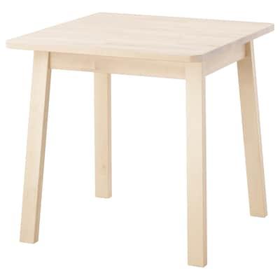 NORRÅKER นูร์ร็อกเกร์ โต๊ะ, ไม้เบิร์ช, 74x74 ซม.