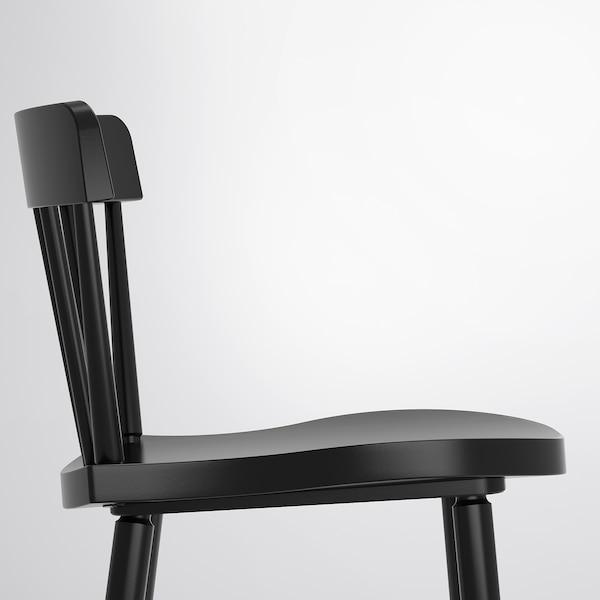 NORRARYD นอร์ราริด เก้าอี้บาร์มีพนัก, ดำ, 74 ซม.