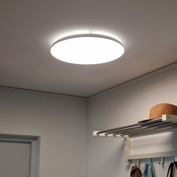 NYMÅNE นีโม้เนอ โคมไฟเพดาน LED, ขาว