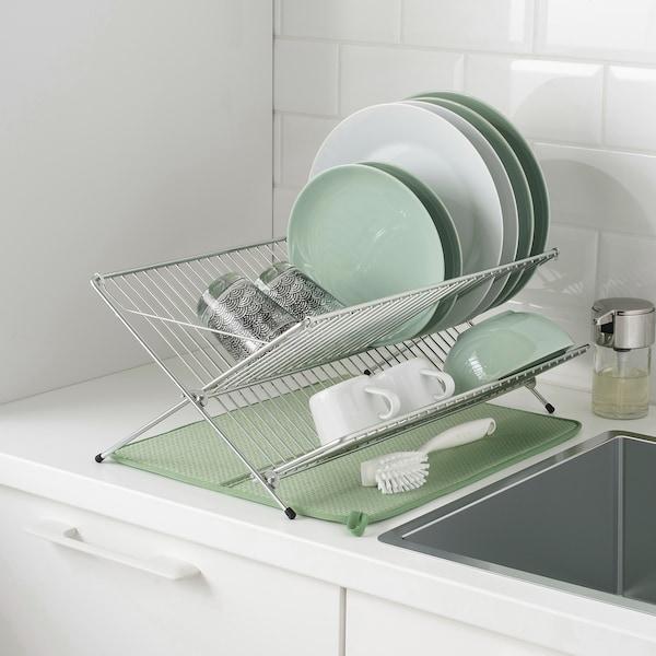 NYSKÖLJD นีเควอลิด แผ่นรองคว่ำจาน, เขียว, 44x36 ซม.