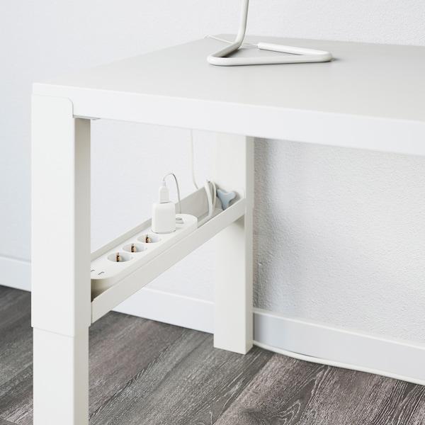 PÅHL พอห์ล โต๊ะพร้อมชั้นวางของ, ขาว, 128x58 ซม.