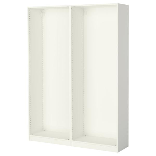 PAX พักซ์ โครงตู้เสื้อผ้าคู่, ขาว, 150x35x201 ซม.