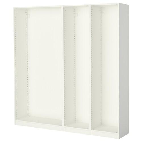 พักซ์ โครงตู้เสื้อผ้า 3 ใบ ขาว 199.6 ซม. 35.0 ซม. 201.2 ซม.