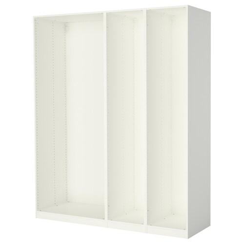 พักซ์ โครงตู้เสื้อผ้า 3 ใบ ขาว 199.6 ซม. 58.0 ซม. 236.4 ซม.