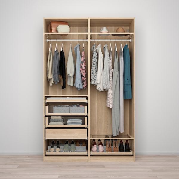 PAX พักซ์ ชุดตู้เสื้อผ้า, สีไวท์โอ๊ค, 150x58x236 ซม.