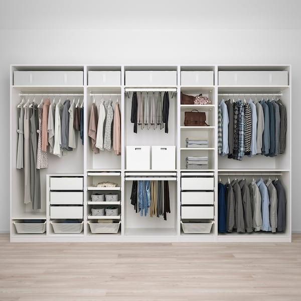 PAX พักซ์ ชุดตู้เสื้อผ้า, ขาว, 375x58x236 ซม.