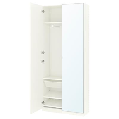 พักซ์ ตู้เสื้อผ้า, ขาว/ฟอร์ชันด์ วีเคดอล, 100x38x236 ซม.