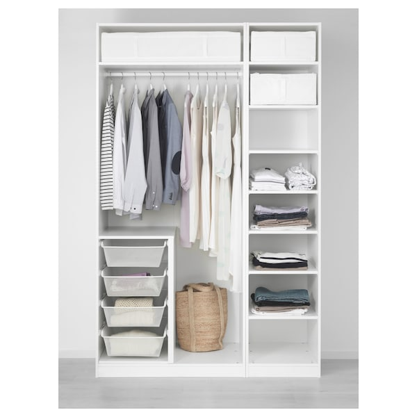 PAX พักซ์ ตู้เสื้อผ้า, ขาว/ฟอร์ชันด์ ขาว, 150x60x236 ซม.