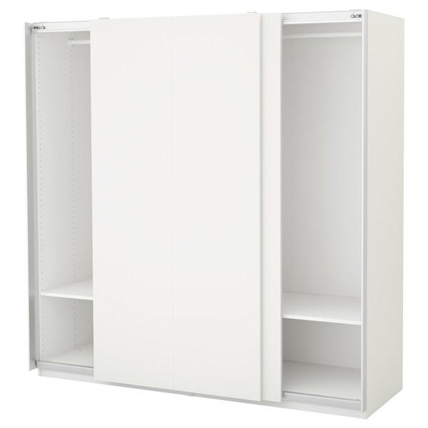 PAX พักซ์ ตู้เสื้อผ้า, ขาว/ฮัสวีค ขาว, 200x66x201 ซม.