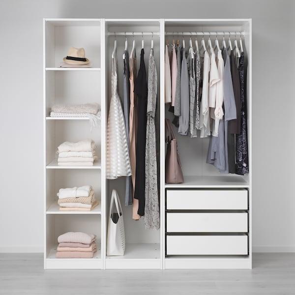 PAX พักซ์ ตู้เสื้อผ้า, ขาว, 175x58x201 ซม.