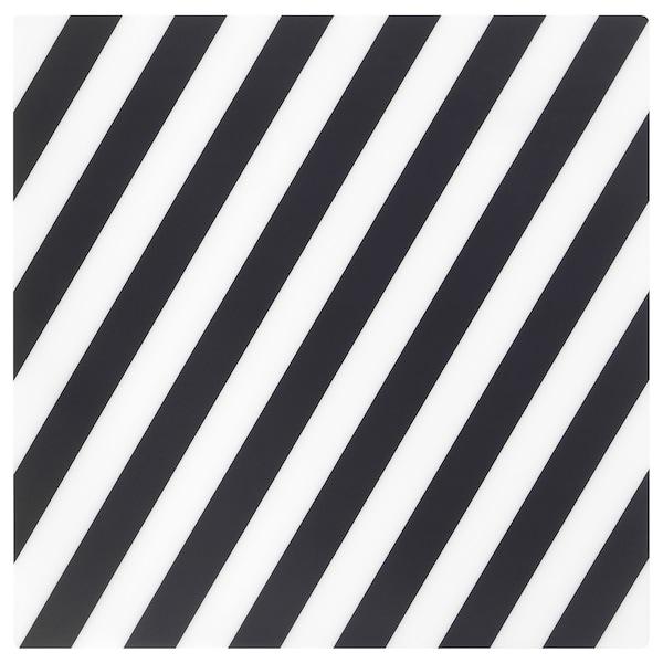 PIPIG พิพพิก แผ่นรองจาน, ลายทาง/ดำ/ขาว, 37x37 ซม.