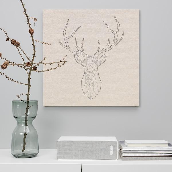 PJÄTTERYD พแยทเทอรีด รูปภาพ, Black deer, 56x56 ซม.