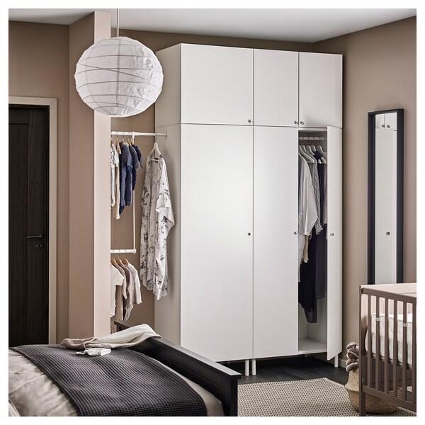 PLATSA พลัทซา ตู้เสื้อผ้า, ขาว/ฟอนส์ ขาว, 175-200x57x251 ซม.