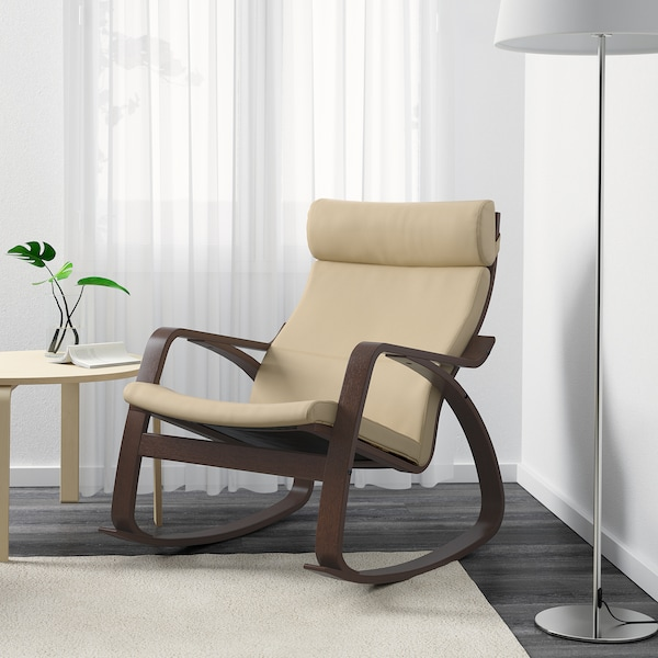 พัวแอง เก้าอี้โยก  น้ำตาล/กลูเซ สีเปลือกไข่ 68 ซม. 94 ซม. 95 ซม. 56 ซม. 50 ซม. 45 ซม.