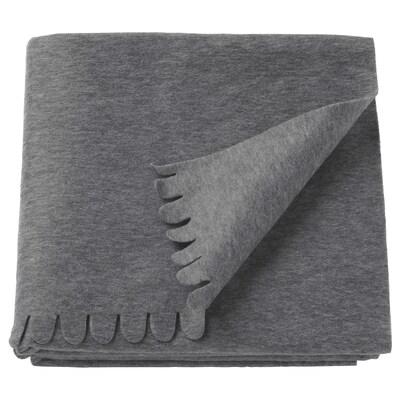 POLARVIDE พูลาร์วีเด ผ้าคลุม, เทา, 130x170 ซม.