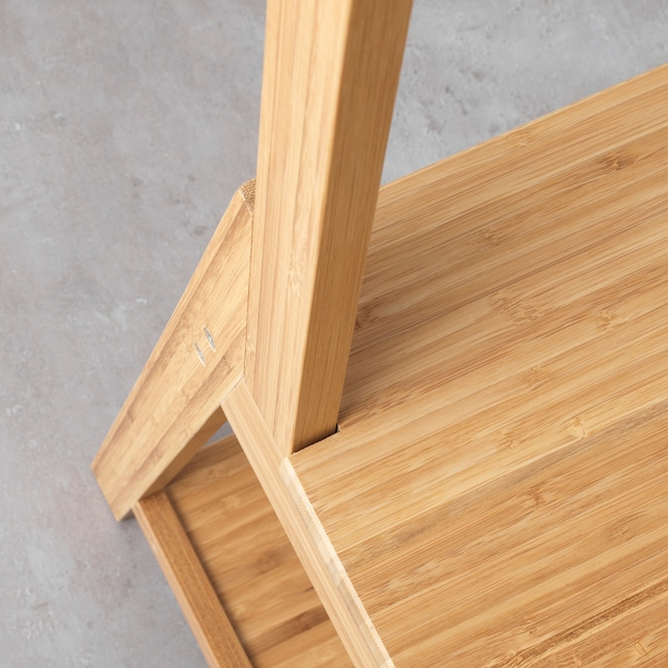 RÅGRUND รัวกรุนด์ เก้าอี้พร้อมราวแขวนผ้า, ไม้ไผ่