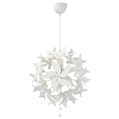 RAMSELE รัมเซียเล โคมแขวนเพดาน, ลายดอกไม้/ขาว, 43 ซม.