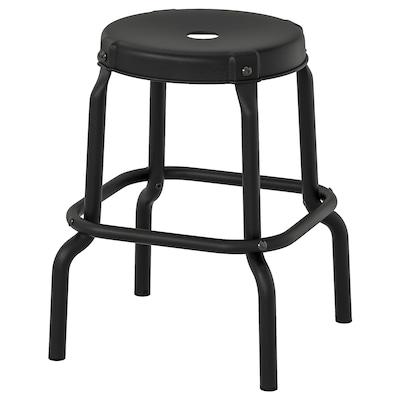 RÅSKOG รวสกู๊ก เก้าอี้สตูล, ดำ