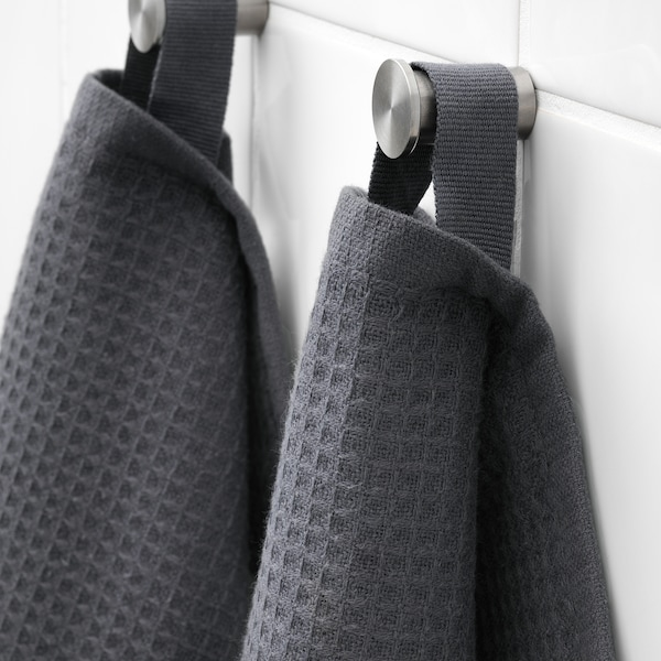 SALVIKEN ซัลวีคเคน ผ้าขนหนู, สีแอนทราไซต์, 30x30 ซม.
