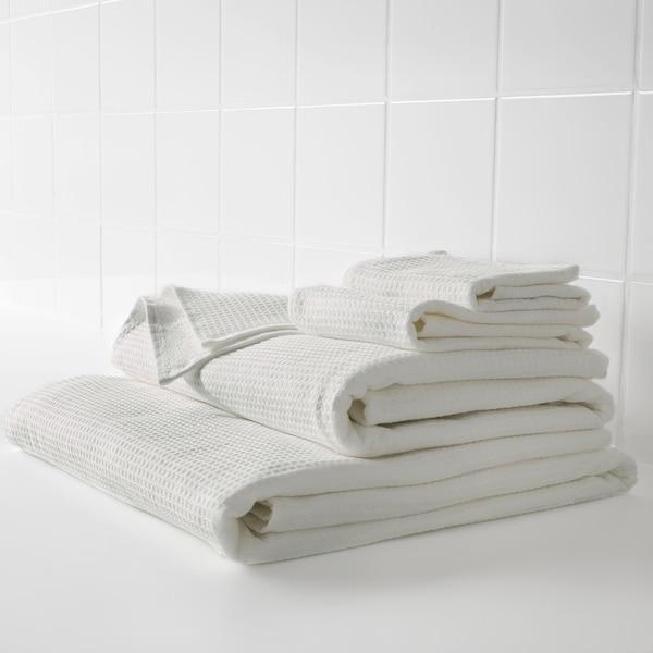 SALVIKEN ซัลวีคเคน ผ้าขนหนู, ขาว, 30x30 ซม.