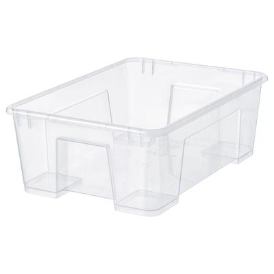 SAMLA ซัมล่า กล่องพลาสติก, ใส, 39x28x14 ซม./11 ลิตร