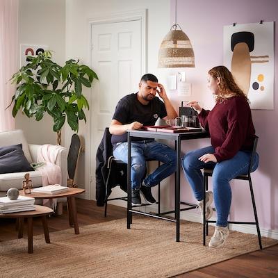 SANDSBERG ซันด์เบรย์ โต๊ะบาร์, ดำ, 67x67 ซม.