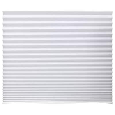 SCHOTTIS ฮูททีส มู่ลี่แบบจีบ, ขาว, 90x190 ซม.