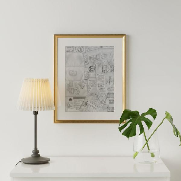 SILVERHÖJDEN ซิลเวอร์เฮยเดน กรอบรูป, สีทอง, 40x50 ซม.