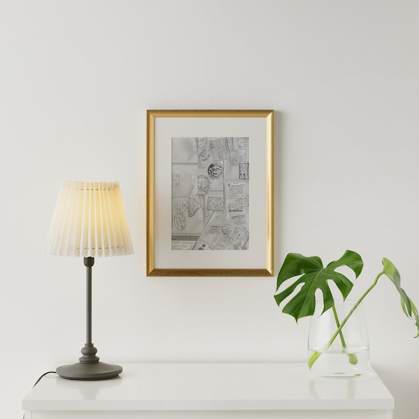 SILVERHÖJDEN ซิลเวอร์เฮยเดน กรอบรูป, สีทอง, 30x40 ซม.