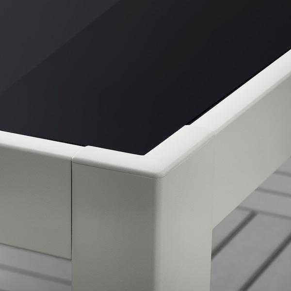 แควลันด์ โต๊ะ กลางแจ้ง แก้ว เทา/เทาอ่อน 71 ซม. 71 ซม. 73 ซม.