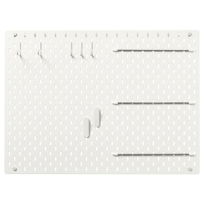 SKÅDIS สกัวดิส ชุดแผ่นเส้นใยไม้อัด, ขาว, 76x56 ซม.