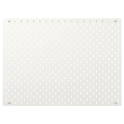 SKÅDIS สกัวดิส แผ่นเส้นใยไม้อัด, ขาว, 76x56 ซม.