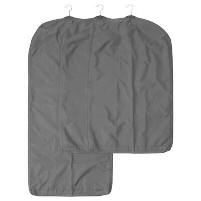 สกุบบ์ ถุงใส่สูท/เสื้อผ้า ชุด 3 ชิ้น, เทาเข้ม