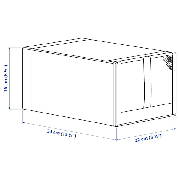 SKUBB สกุบบ์ กล่องรองเท้า, เทาเข้ม, 22x34x16 ซม.