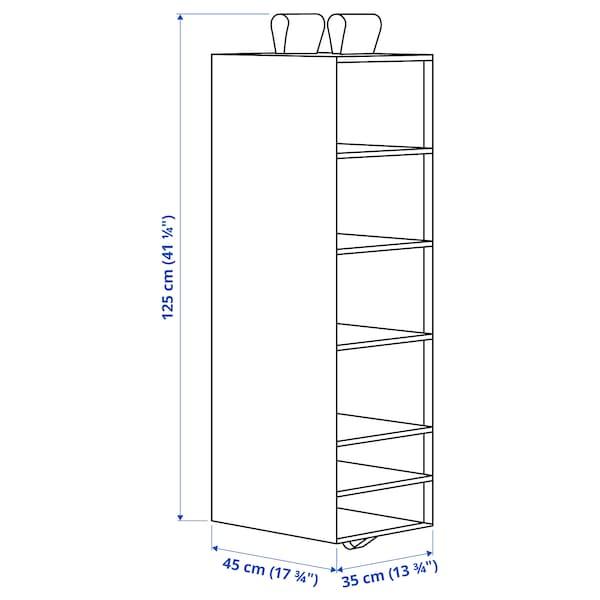 SKUBB สกุบบ์ ชั้นแขวน 6 ช่อง, ขาว, 35x45x125 ซม.