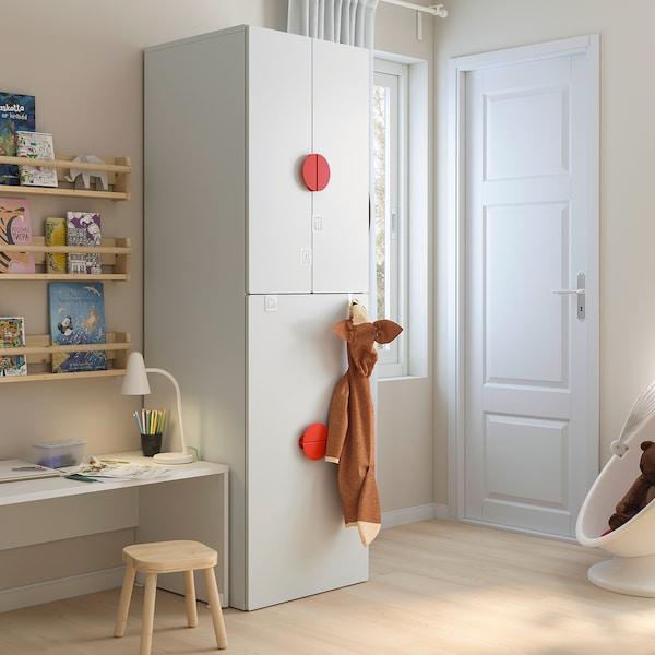 SMÅSTAD สมวสตัด ตู้เสื้อผ้าพร้อมกล่องลิ้นชักใส่ของ
