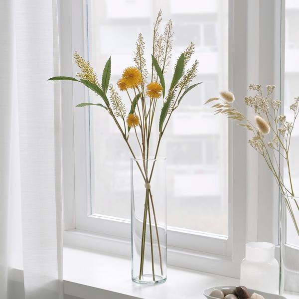 SMYCKA สมึคก้า ช่อดอกไม้ประดิษฐ์, ใน/นอกอาคาร เหลือง, 60 ซม.