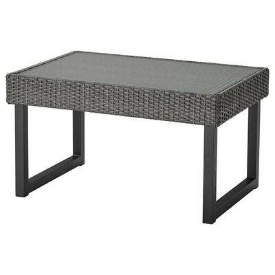 SOLLERÖN โซลเลราน โต๊ะกลาง กลางแจ้ง, สีแอนทราไซต์/เทาเข้ม, 92x62 ซม.